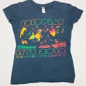 Coldplay Live 2012 Mylo Xyloto Concert Tour TShirt